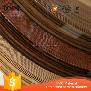 Best selling products protective strip edge banding profile PVC banding t polish