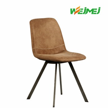 Foshan Factory Elegant White Italian Style Leather Dining Chair