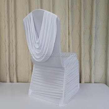 Stretch Ruched Swag Back Spandex Chair Covers