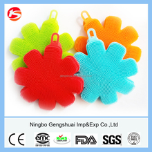 multi functional silicone hand washing scrubber with color customized