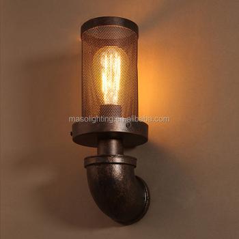 Loft Balcon Lumières Lampe Murale Vintage Personnalisé Café Tuyau D\'eau  Lampe Bar Décoratif Industriel Edison Ampoule Maille Applique Murale - Buy  ...