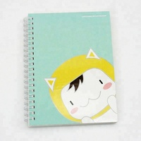 Hot Logo Printed Lovely Notebook With Spiral Made In China For Kids