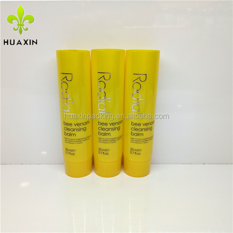 25ml very beautiful plastic yellow tube for cleansing balm