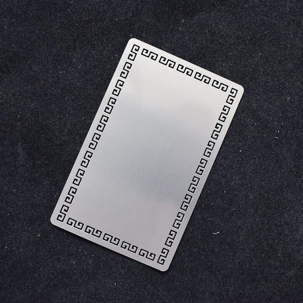 RETERMIT 100pcs Sublimation Metal Business Cards Laser Engraved Metal Business Cards Sublimation Blanks 3.4x2.1in Thicknes (0.30mm) (Sliver-GreatWall)