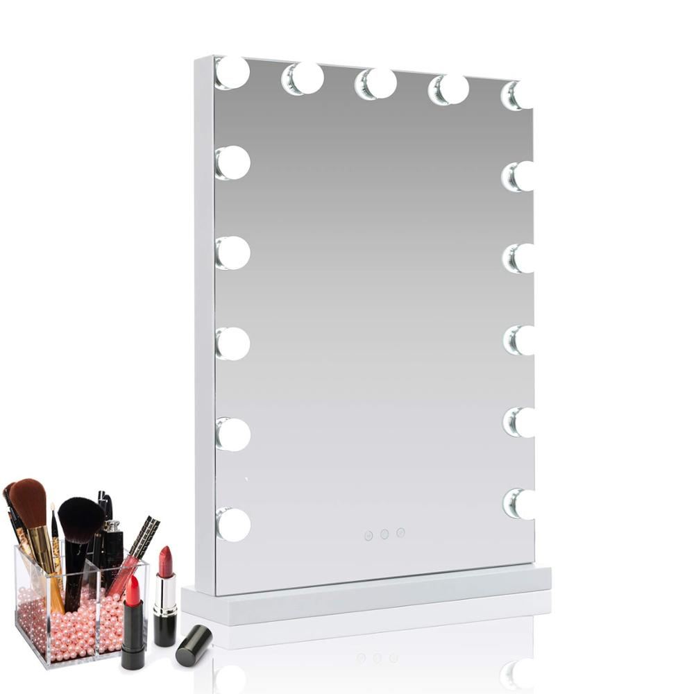 메이 컵 베니 티 거울 등 Hollywood Mirror 와 Adjustable LED Bulbs Smart Touch Switch 빛 Mirror