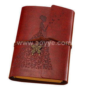 Wholesale vintage kraft notepad stationery with creative diary notebook hand book a6 loose-leaf notebook