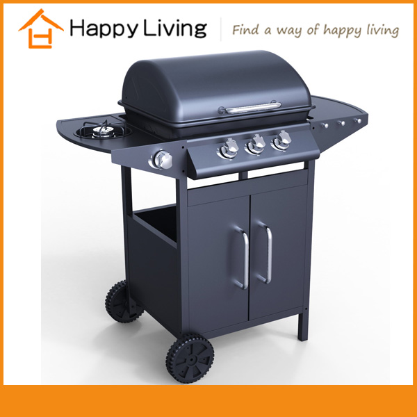2016 new camping 3 burner bbq grill gas oven