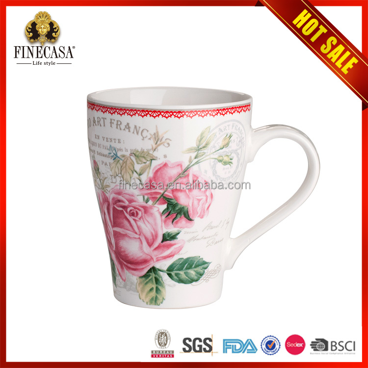 2015 Top Quality Cheaper Bulk Colorful stoneware coffee mugs and handpaint