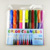 felt tip watercolor marker, slim watercolor pen pvc bag