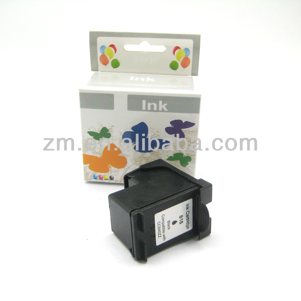 Recycle printer ink cartridge for HP CC640Z(818) refillable ink cartridge
