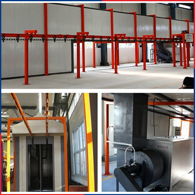 automatic powder coating line booth system supplier