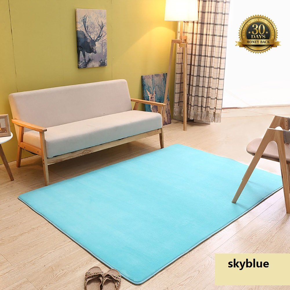 Puzzle Mat Floor Carpet Area Rug for Living Room Bedroom Kids Playroom 10 Tiles Homyl Non-toxic Eva Interlocking Gym Exercise Play Mat