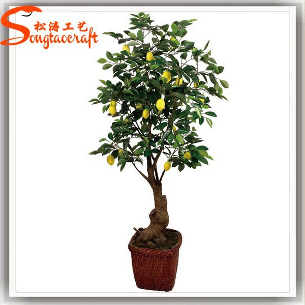 New products wholesale artificial lemon tree life like artificial lemon wholesale artificial bonsai tree for decoration