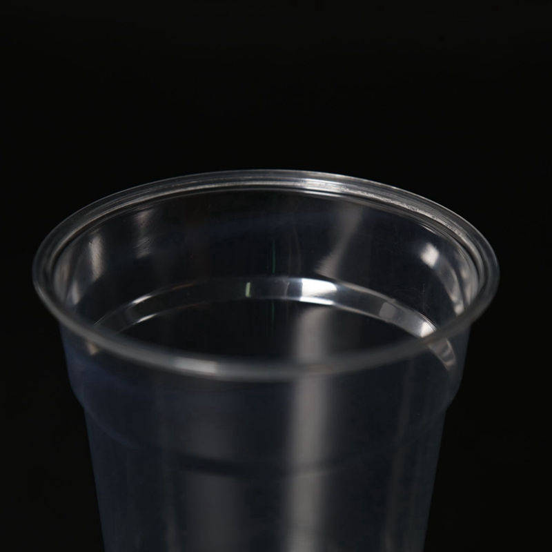 14oz PET material disposable plastic coffee cup with lid