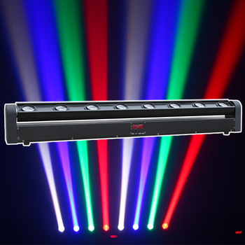 China factory 8 beam moving head light led moving bar light 8x10w led sweeper stage ceiling night light