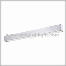 UL CUL Listed Painted Sliver Long Slim Rectangle Hotel Bathroom Vanity Lamp For Mirror W60358