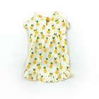 2019 wholesale factory direct sale pineapple yellow cute cat dog skirt custom print fruit summer dress pet clothes