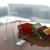 Book Plate Phone Tablet Clear Acrylic Display Stand Perspex Wholesale Cookbook Holder Stand