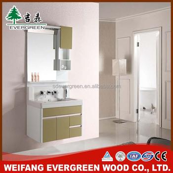 Corner Bathroom Vanity Unit Silver Mirror Wall Mounted Single Sink