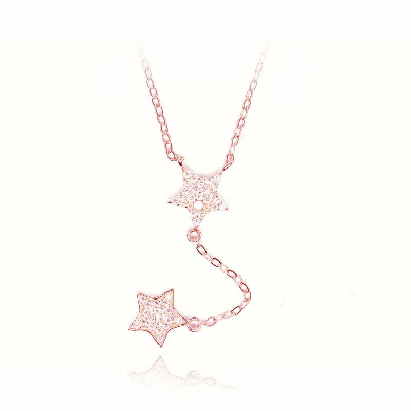 ccaf1bc138e6 XINHUI de Estrella de oro Collar de plata de ley 925 venta al por mayor  precio