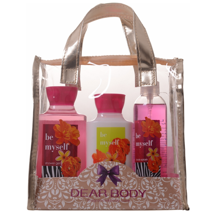 Cosmetic Factory Cherry Blossom Flower Scent Bath Fragrance Perfume Gift Set with packaging Box