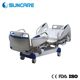 Foldable medical hospital beds icu 5 function electric hospital bed