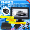 4.3 inch car rear view system parking sensor with 120 degree angle waterproof IR night vision camera