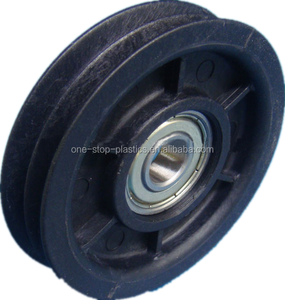 factory price nylon plastic pulley nylon66 rope pulley