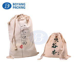 Personalized Custom stamping printing large Gift Drawstring canvas Bags with drawstring