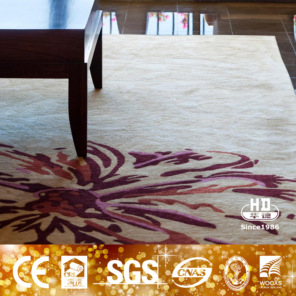 Newest European Style Fashion Colorful Simple Style Wool Area Rug