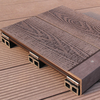 Wpc Outdoor Waterproof Interlocking Composite Decking