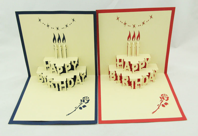 Happy Birthday Greeting Card With 3d Letter Shape Buy Happy – Happy Birthday Card 3d