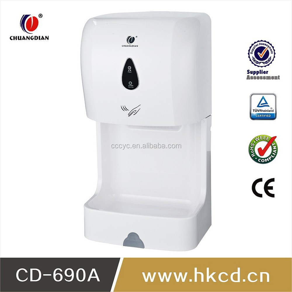 1100w Hot Sell High Speed Automatic Hand Dryer For restaurant,washroom,bathroom ,hotel CD-690A