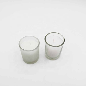 Custom Transparent Matte Atmosphere Layout Home Occasion Glass White Candle