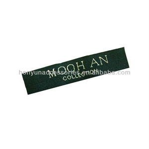 Custom quality mens collection garment labels/black woven labels