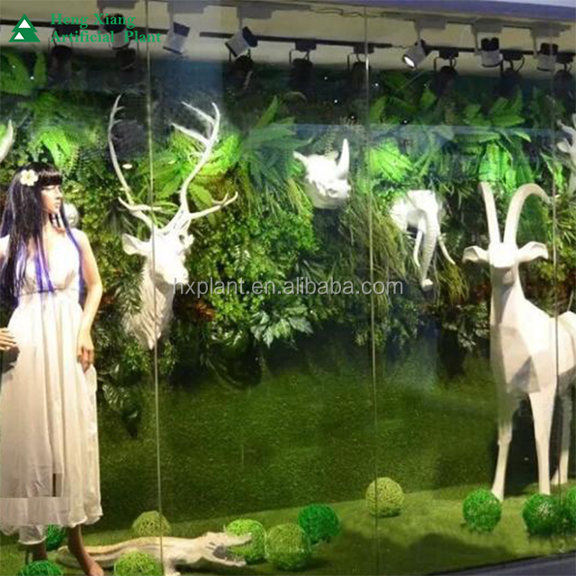 Fashion artificial grass plants store design <strong>wall</strong>