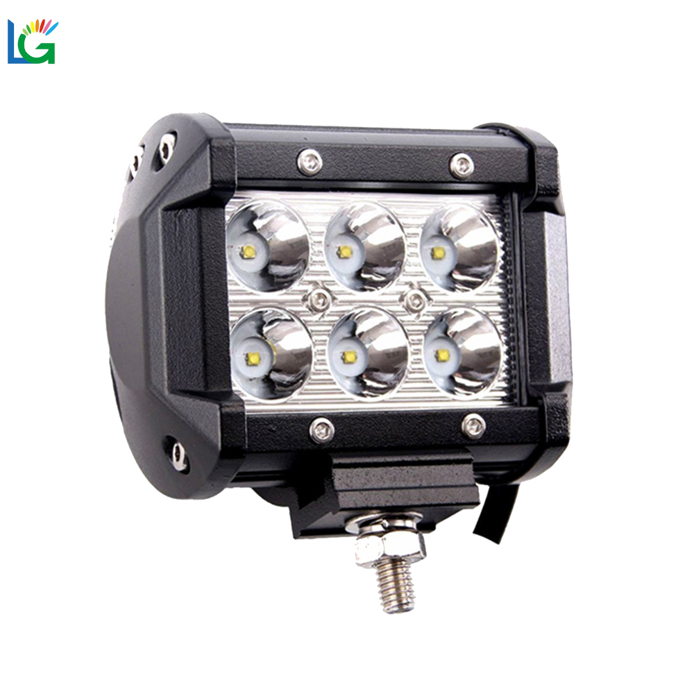 12volt 24v led pot light 4 inch 18W 4x4 Led Car Light, Rigid Led Light bar Off road,auto led light