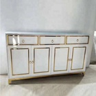 Wholesale hot selling luxury white drawer central table console