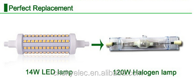 Led light bulbs 2835 led 5w with cover r7s 78mm 150w for R7s 150w led