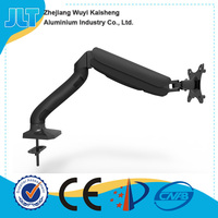Gas Spring Single Articulating Monitor Arm With 3 USB Ports LED LCD Mount Bracket for 17-27