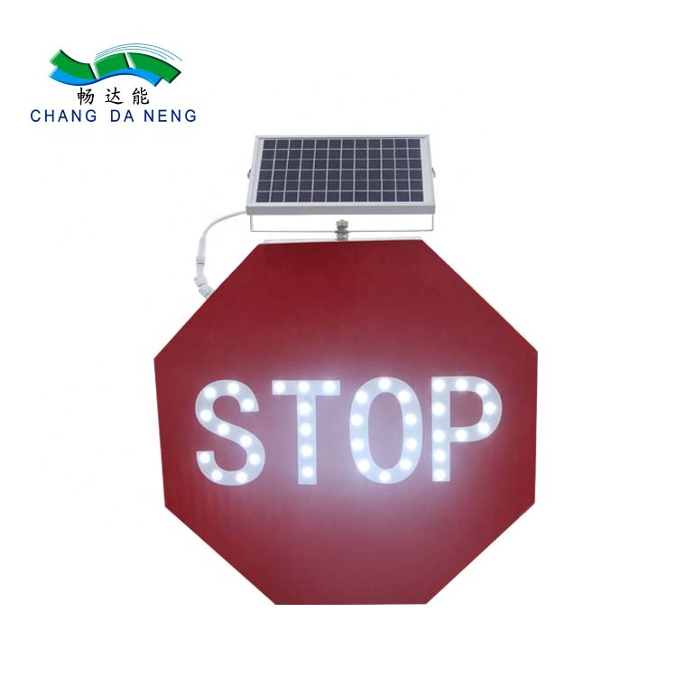 Yellow red  solar powered traffic sign led warning signal