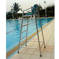 pool equipment factory distribution stainless steel detachable life guard chair