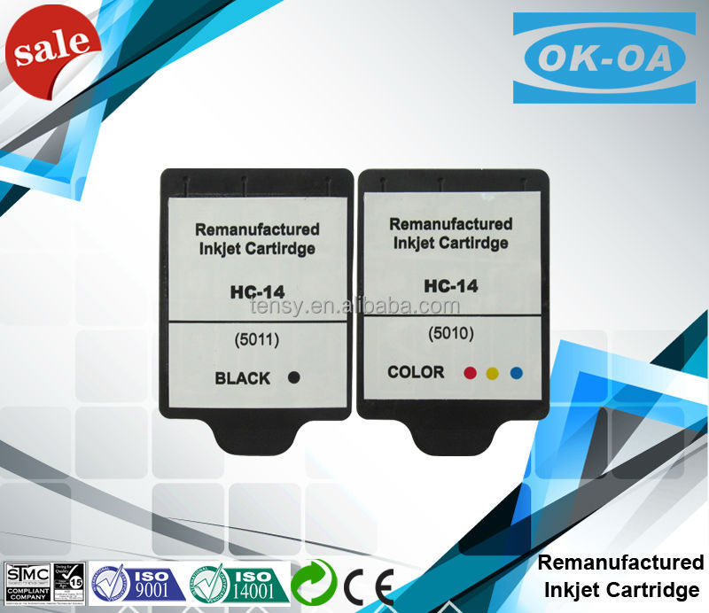 Remanufactured 5010 5011 ink cartridge for hp14