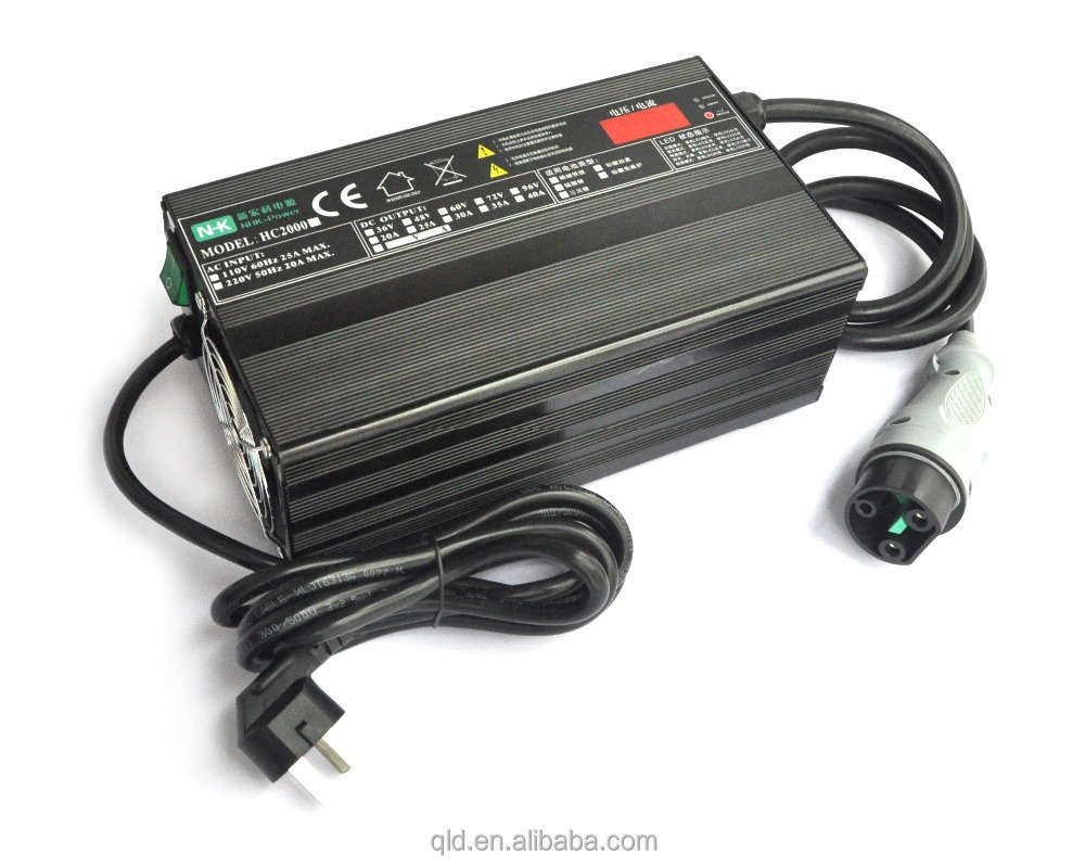 2000W high frequency automatic battery charger for lead acid battery lithium ion battery