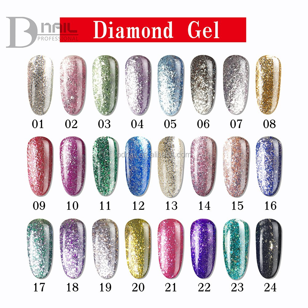 2016 Bd Diamond Glitter Gel Nail Polish,Nail Polish Diamond Gel ...