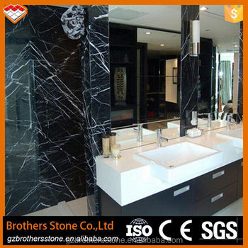 china black marble slab bathroom wall tile nero marquina