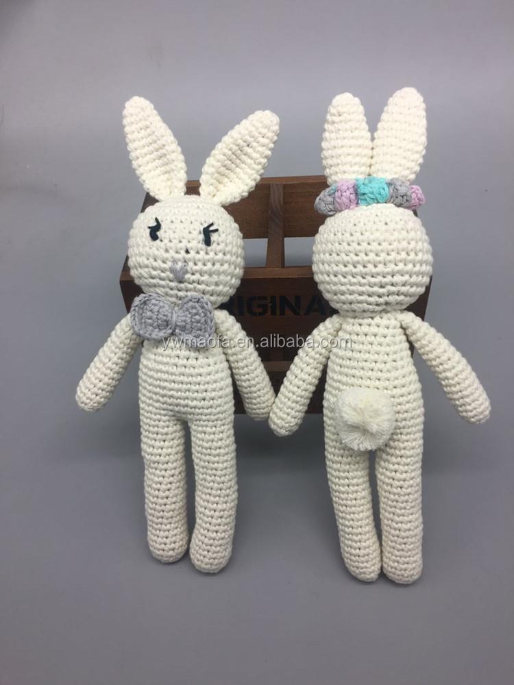 Groothandel Oem Baby Haak Amigurumi Bijtring Animal Speelgoed 100