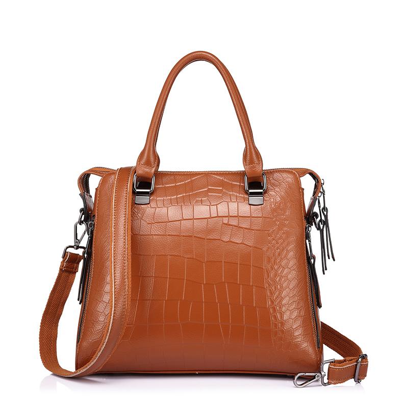 REALER бренд объёмная женская сумка из натуральной кожи высокого качества, сумка через плечо со крокридиковым принтом для бизнеса, кожаные сум...(Китай)
