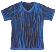100% Pima Cotton Men T,Shirt , Slim Fit , Vertical Dye Effect
