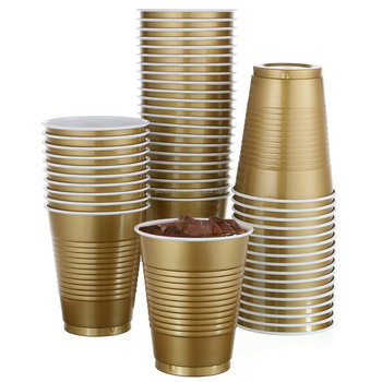 Custom Disposable Gold Plastic Cups For Big Party